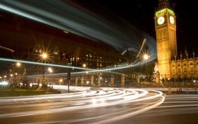 Картинка Лондон, london, Westminster Lights, bigben