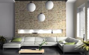Картинка дизайн, стиль, интерьер, софа, столик