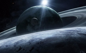 Картинка космос, звезды, планеты, space, planet