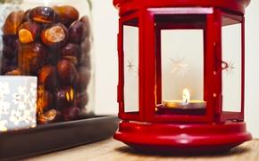 Картинка красный, свеча, фонарик, банка, каштаны, ikea