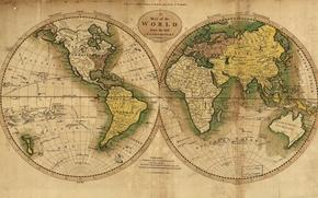 Картинка море, океан, земля, мир, азия, остров, карта, материки, америка, африка, европа, экватор, австралия