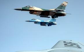 Картинка небо, полет, самолет, истребитель, пилот