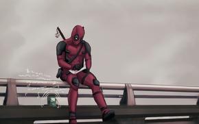 Картинка Рисунок, Deadpool, Marvel, Дэдпул, Wade Wilson