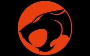Обои red, logo, black, Thundercats