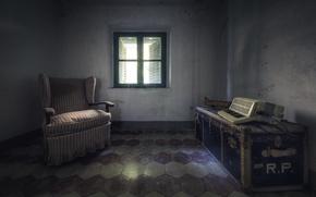 Картинка комната, окно, акордеон