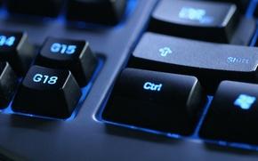 Картинка подсветка, кнопки, чёрная, клавиатура, разное