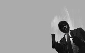 Картинка фильм, арт, art, Криминальное чтиво, Pulp Fiction, Samuel L. Jackson, Сэмюэл Л. Джексон, Jules Winnfield, ...