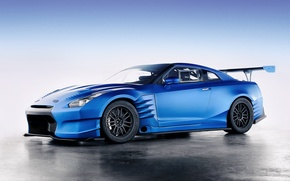 Картинка Nissan, gt-r, r35, godzilla, The R's Tuning's BenSopra GT-R build