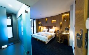 Картинка свет, дизайн, кровать, интерьер, Design, спальня, Interior, Bedroom