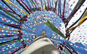 Картинка столб, Бразилия, флажки, Сальвадор, штат Баия