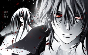 Картинка red eyes, cross yuuki, kuran kaname