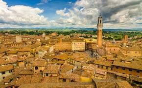 Картинка здания, крыши, Италия, панорама, Italy, Тоскана, Tuscany, Сиена, Siena