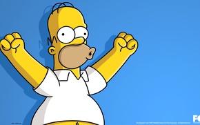 Картинка Симпсоны, The Simpsons, Homer Simpson, Гомер Симпсон, Ухууууууу