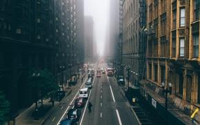 Картинка город, туман, небоскребы, Чикаго, Мичиган, usa, chicago, Иллиноис