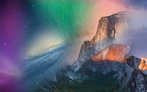 Обои apple, mac, горы, os x