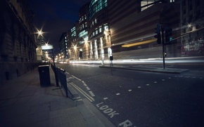 Обои огни, дорога, street, ночь, night