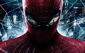 Обои The Amazing Spider-Man, Andrew Garfield, Новый Человек-паук, Эндрю Гарфилд, обои, фильм, герой, костюм