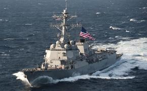 Картинка США, ВМС, USS McCampbell, типа «Арли Бёрк», DDG 85, эсминц УРО