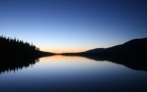 Обои озеро, отражение, тень, Минимализм