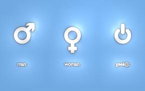 Картинка женщина, технологии, мужчина