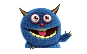Картинка cute, monster, funny, face, fluffy