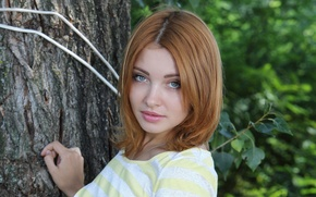 Картинка взгляд, лицо, модель, рыженькая, Kika