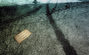 Обои пустота, безнадежность, письмо, асфальт