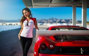 Картинка Girl, F430, Ferrari, Red, Model, Racing, Beauty, Supercar, Dream, Janice Kakish