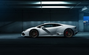 Обои Lamborghini Huracan, hq wallpaper, car, white