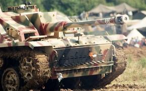 Картинка войны, бронетехника, штурмгешютц, Sturmgeschütz, орудие, StuG III, мировой, Второй, времён, штурмовое, Ausf G