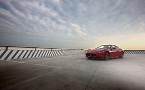 Картинка небо, Maserati, красная, мазерати, GranTurismo S