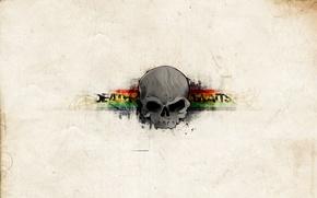 Картинка полоски, череп, текстура
