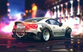 Картинка Toyota, Car, White, Sport, GT86, Rear, YASIDdesign