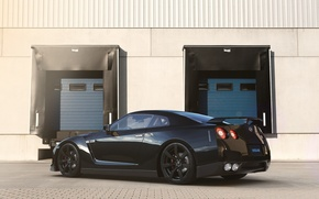 Картинка Nissan, GT-R, Car, Black, Sun, R35, Sport, Rear, Ligth