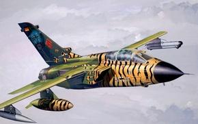 Картинка art, airplane, painting, aviation, jet, Panavia Tornado