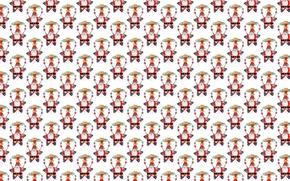Обои Санта Клаус, звезда, Дед Мороз, Новый год, фон, текстура, праздник