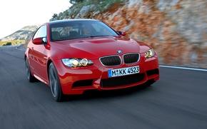 Картинка Красный, Авто, BMW, решетка, БМВ, Капот, Фары, Передок