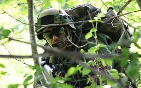 Картинка лес, оружие, солдат