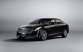 Обои фон, кадиллак, белый, Cadillac, CT6, седан