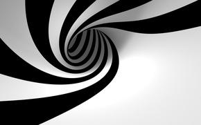 Обои черно-белая, спираль