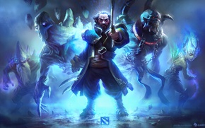 Картинка дота 2, kunkka, dota 2, Vengeful Spirit, Dark Seer, Lich, Ancient apparition