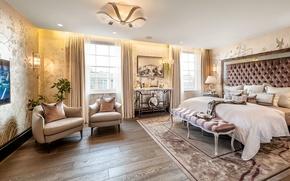 Картинка дизайн, стиль, интерьер, квартира, спальня