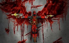 Картинка Пистолет, Deadpool, Marvel, Дэдпул, Wade Wilson