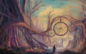 Картинка фентези, арт, ловец снов, Manu Micheler
