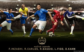 Картинка Legends, Carlos, Kahn, Baggio, Update, PES 2016, MyClub, Figo, inzaghi