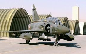 Картинка ангары, Mirage 2000, французский многоцелевой истребитель четвёртого поколения, assault Aviation