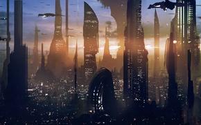 Картинка Star Wars, Skyscraper, Coruscant