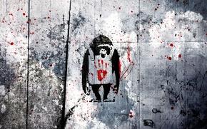 Картинка vector, вектор, арт, обезьяны, wallpaper, обезьянки, style, grey, art, grunge, monkeys, мартышки