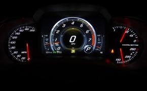 Картинка панель, спидометр, приборы, corvette
