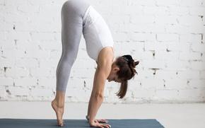 Обои workout, female, yoga, girl